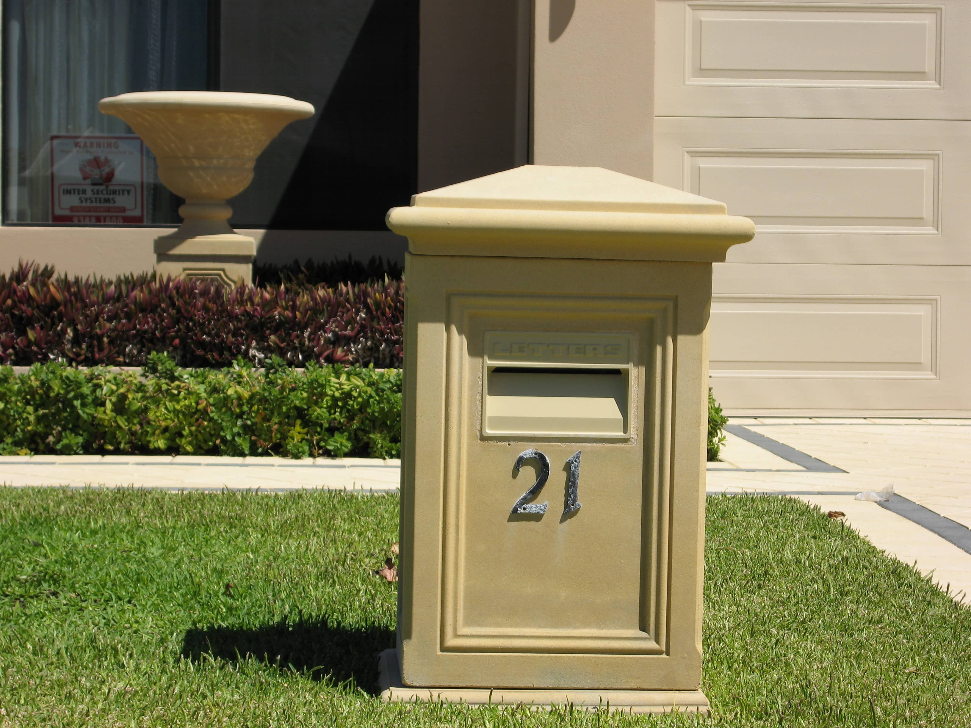pedestal img mailbox our chart see colour letter sandstone colonial boxes products